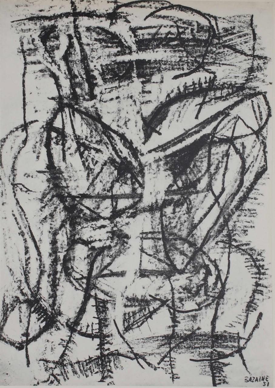 BAZAINE Jean composition noire