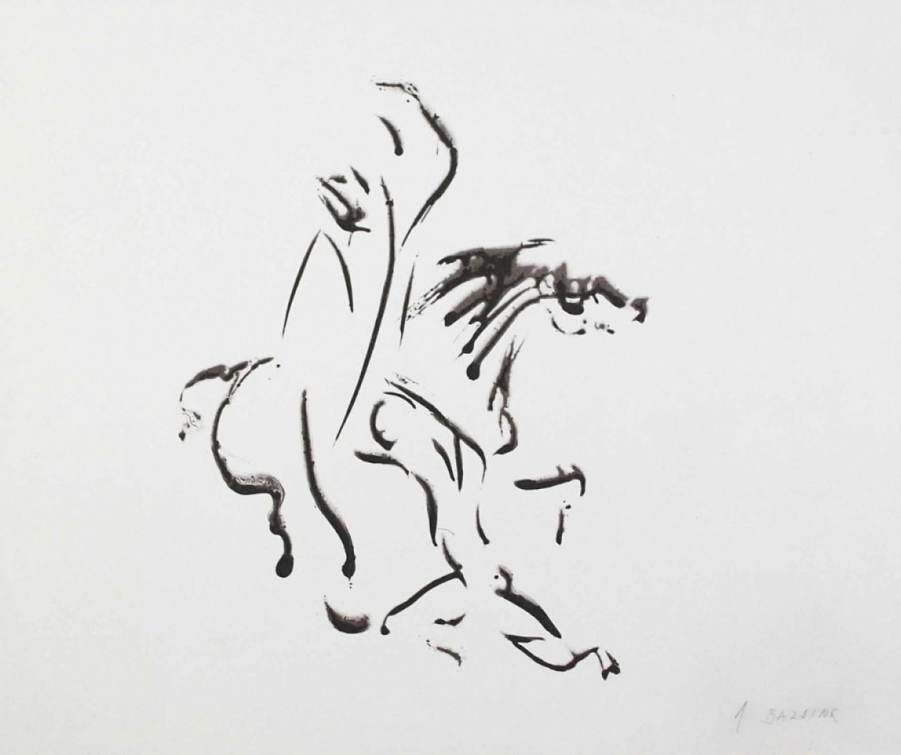 BAZAINE Jean cheval monté