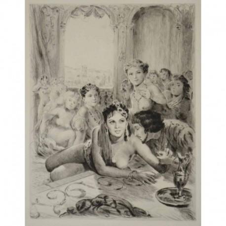BECAT Pierre Emile un homme et ses femmes nues