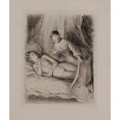 BECAT Pierre Emile femme nue partie dormir
