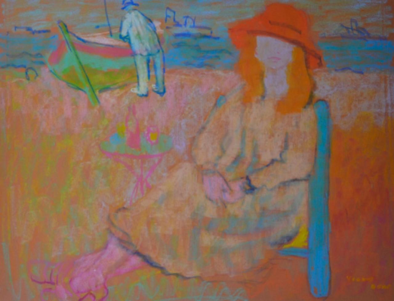 BERT Yvonne femme sur la plage