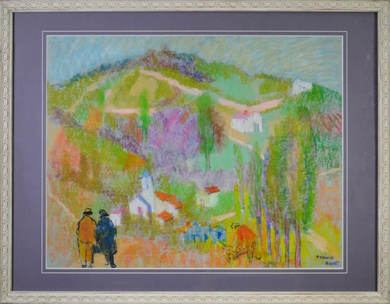 BERT Yvonne couple avançant vers un grand paysage