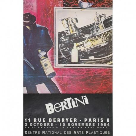BERTINI affiche homme avec bouteille