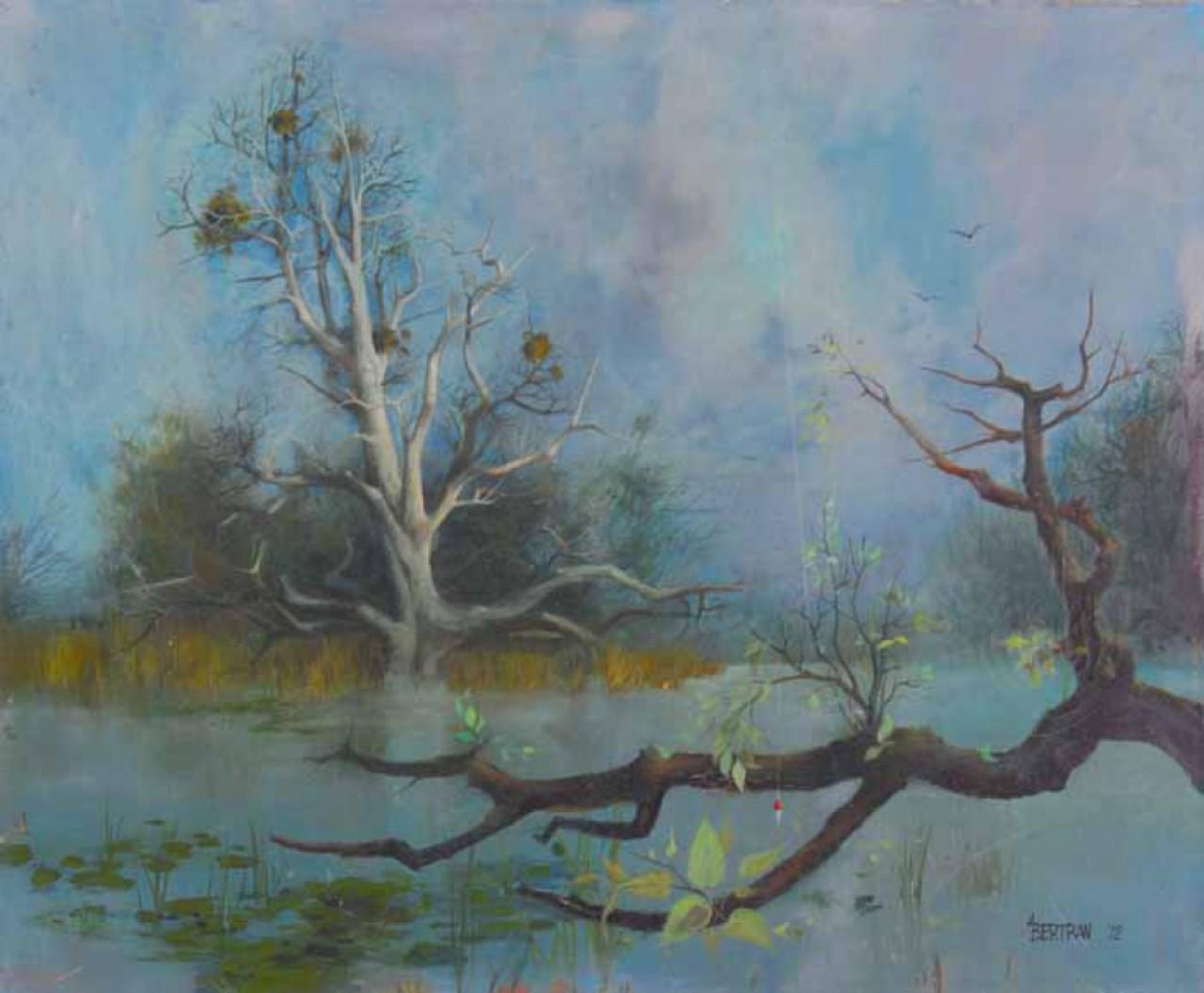 BERTRAN paysage d'un lac