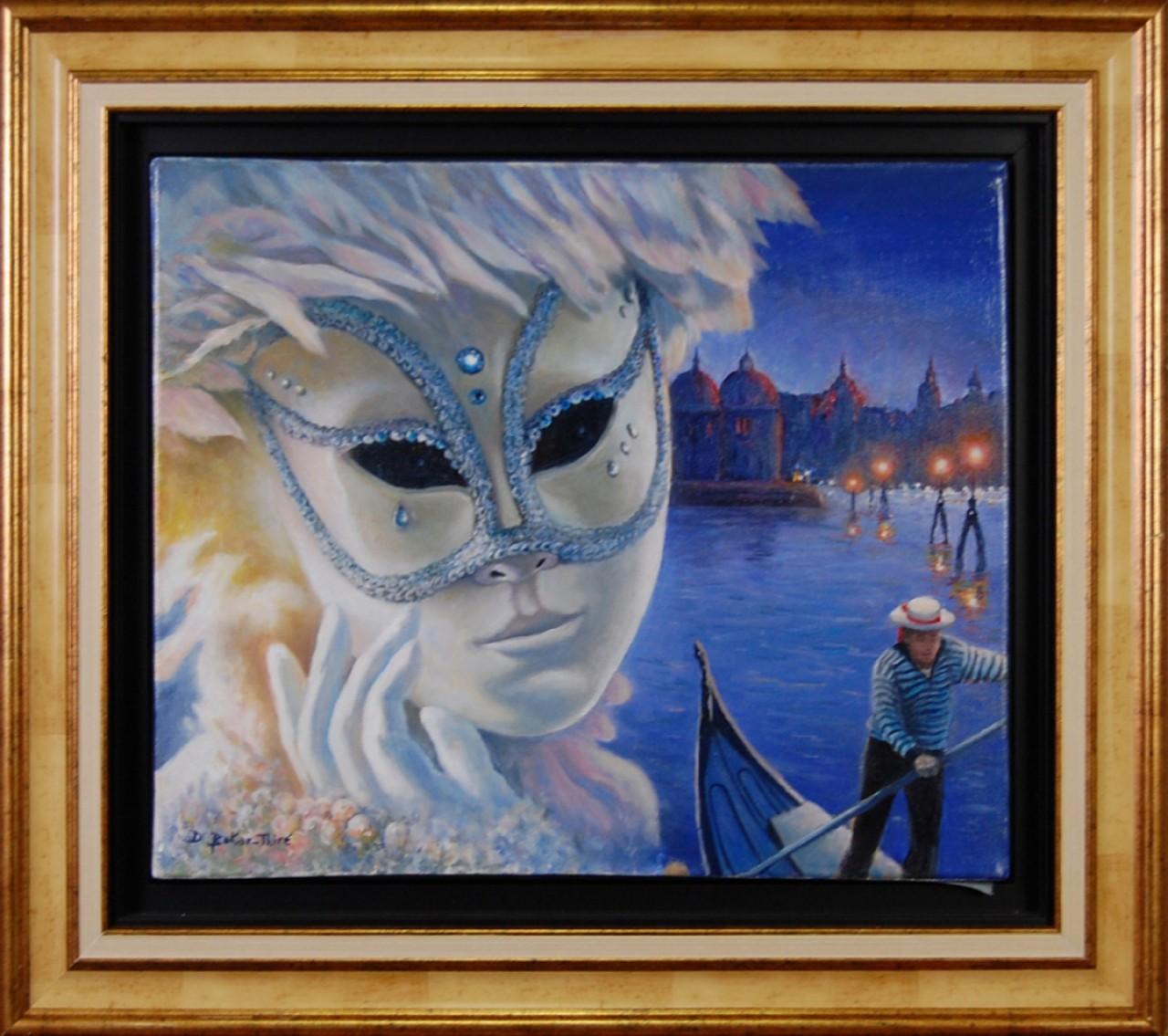 BOKAR-THIRE Djibril Venise nuit gondole et masque
