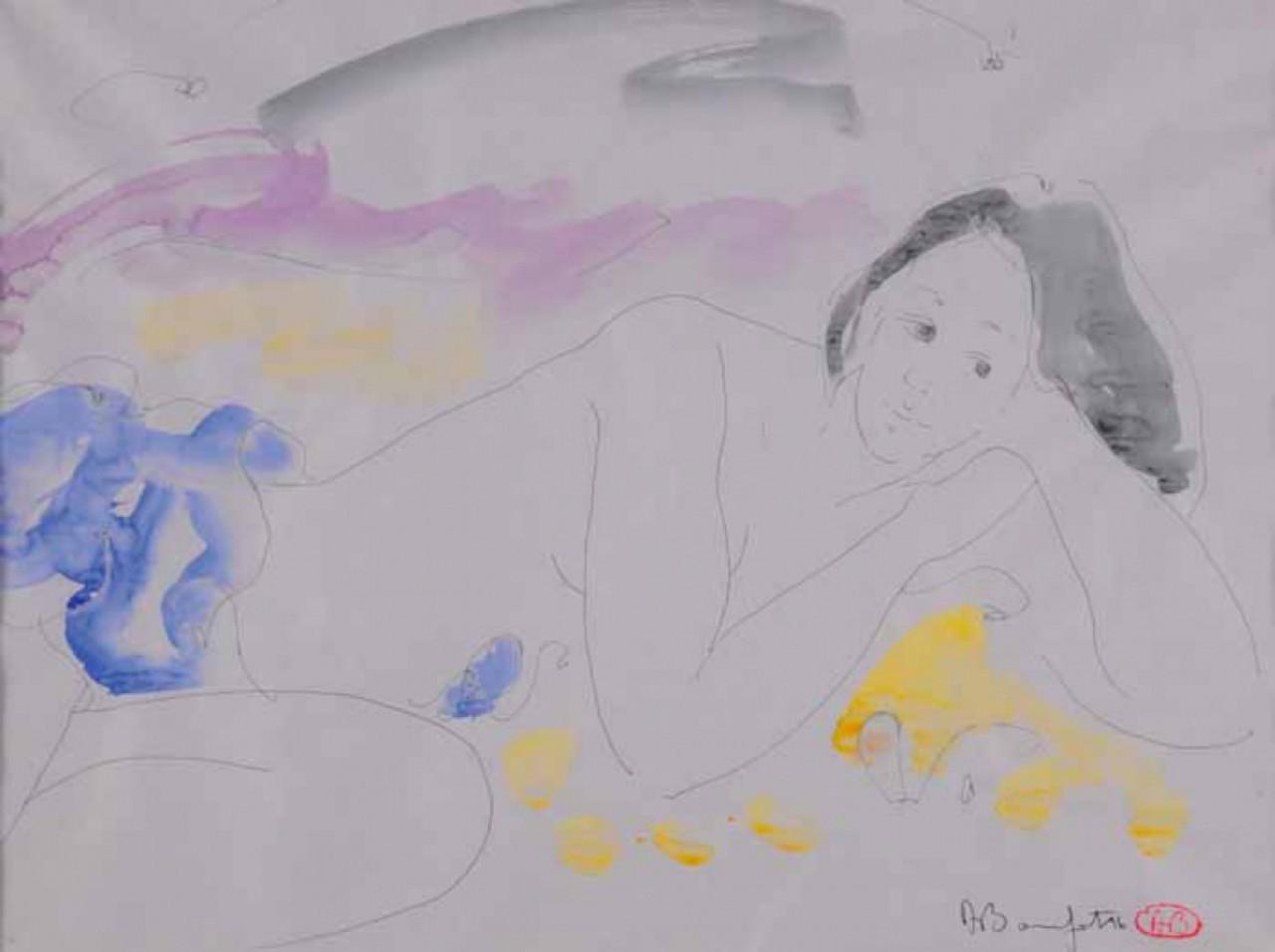 BONNEFOIT Alain femme allongée