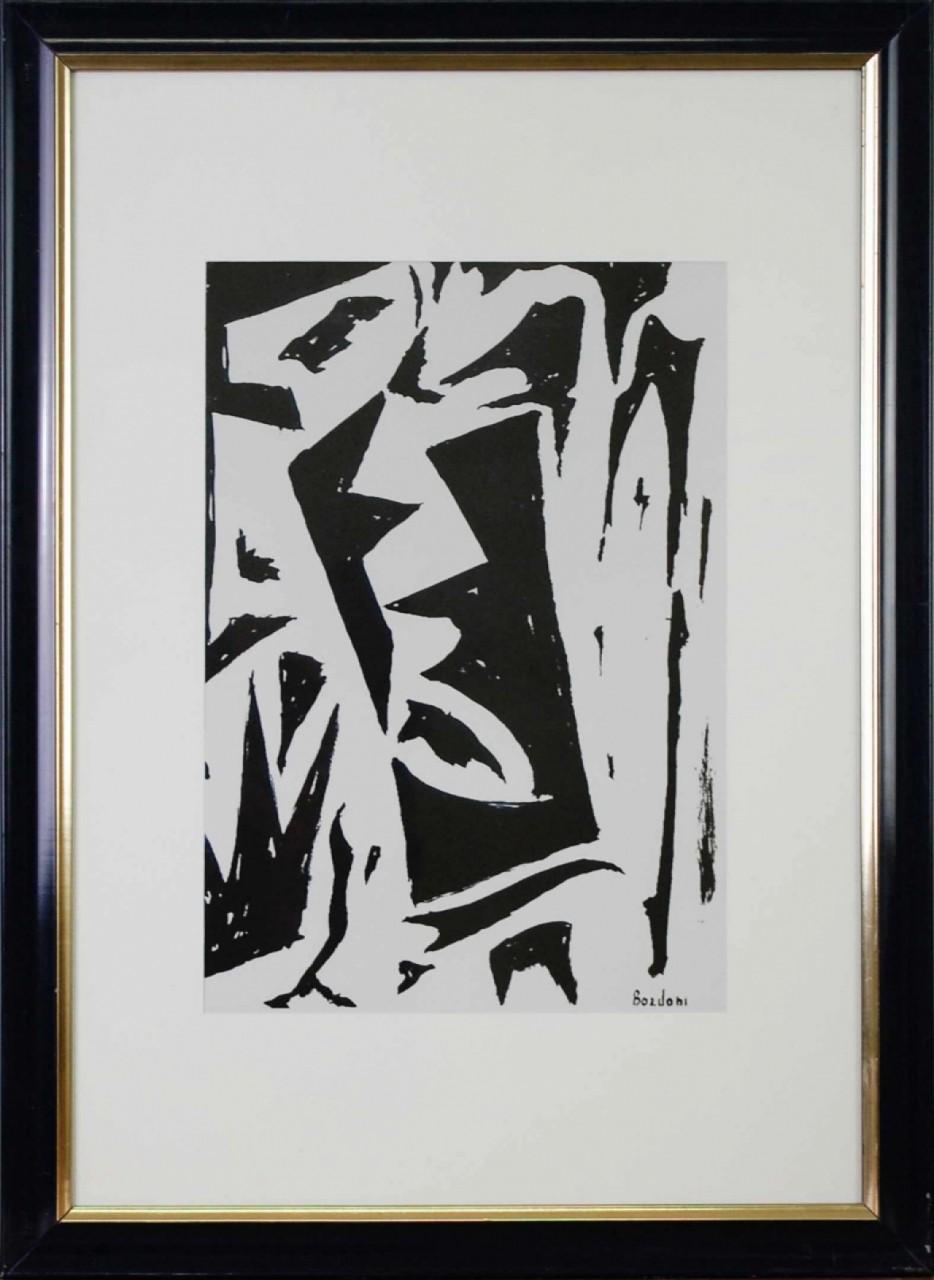 BORDINI Enrico formes noires et blanches