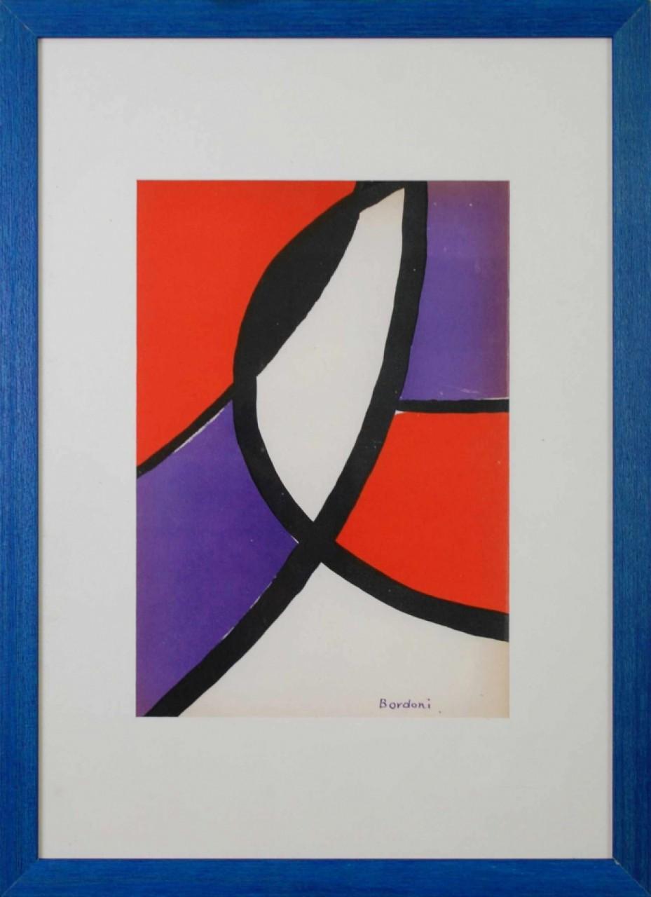 BORDINI Enrico violet et rouge