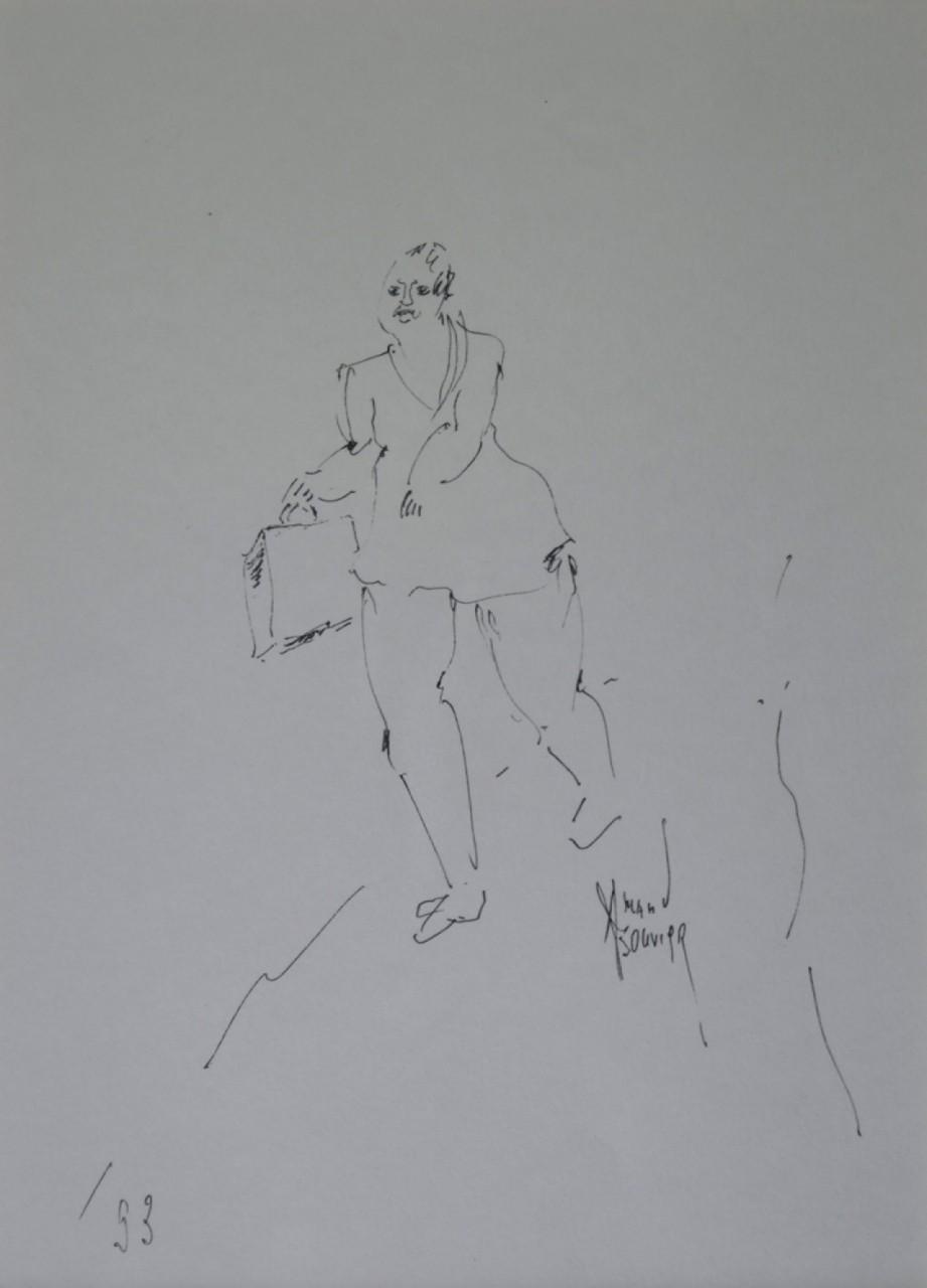 BOUVIER Amand femme qui avance avec son sac à main