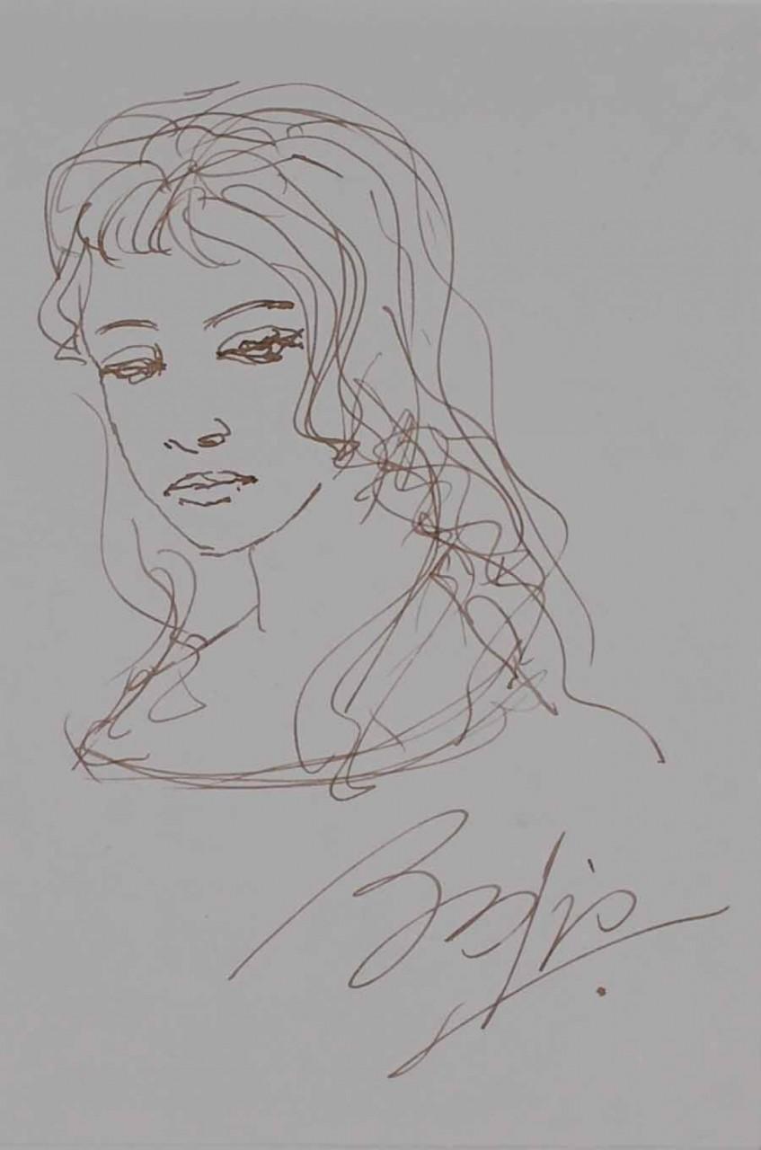 BRAIG Paul portrait d'une jeune femme blonde