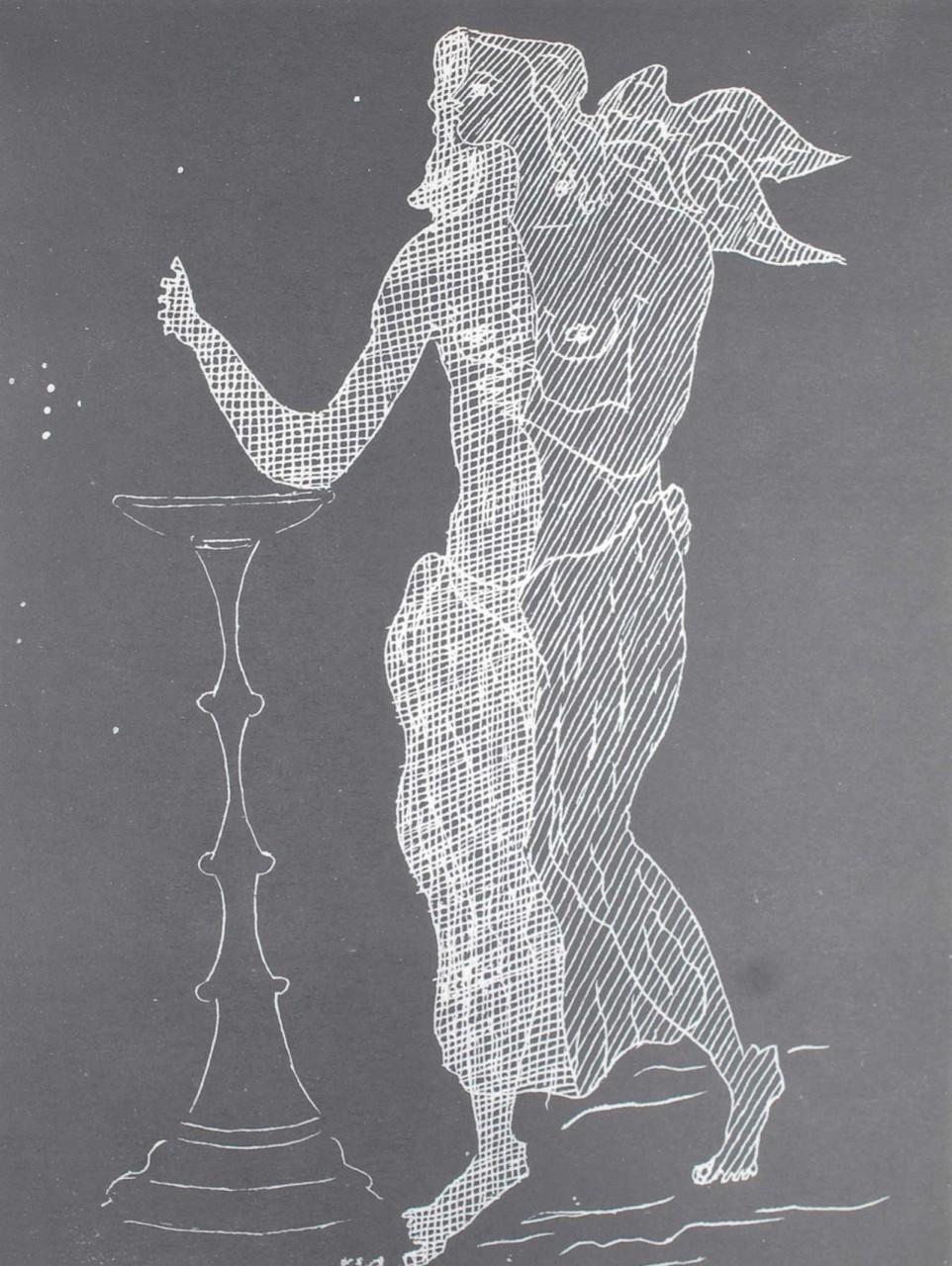 BRAQUE Georges personnage avec deux formes de corps