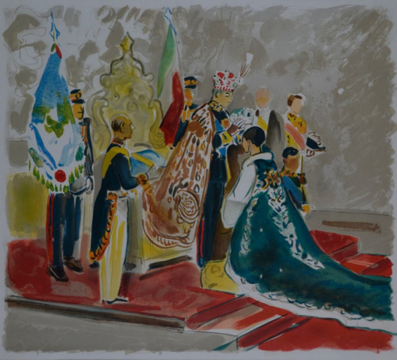 BRAYER Yves couronnement d'une reine
