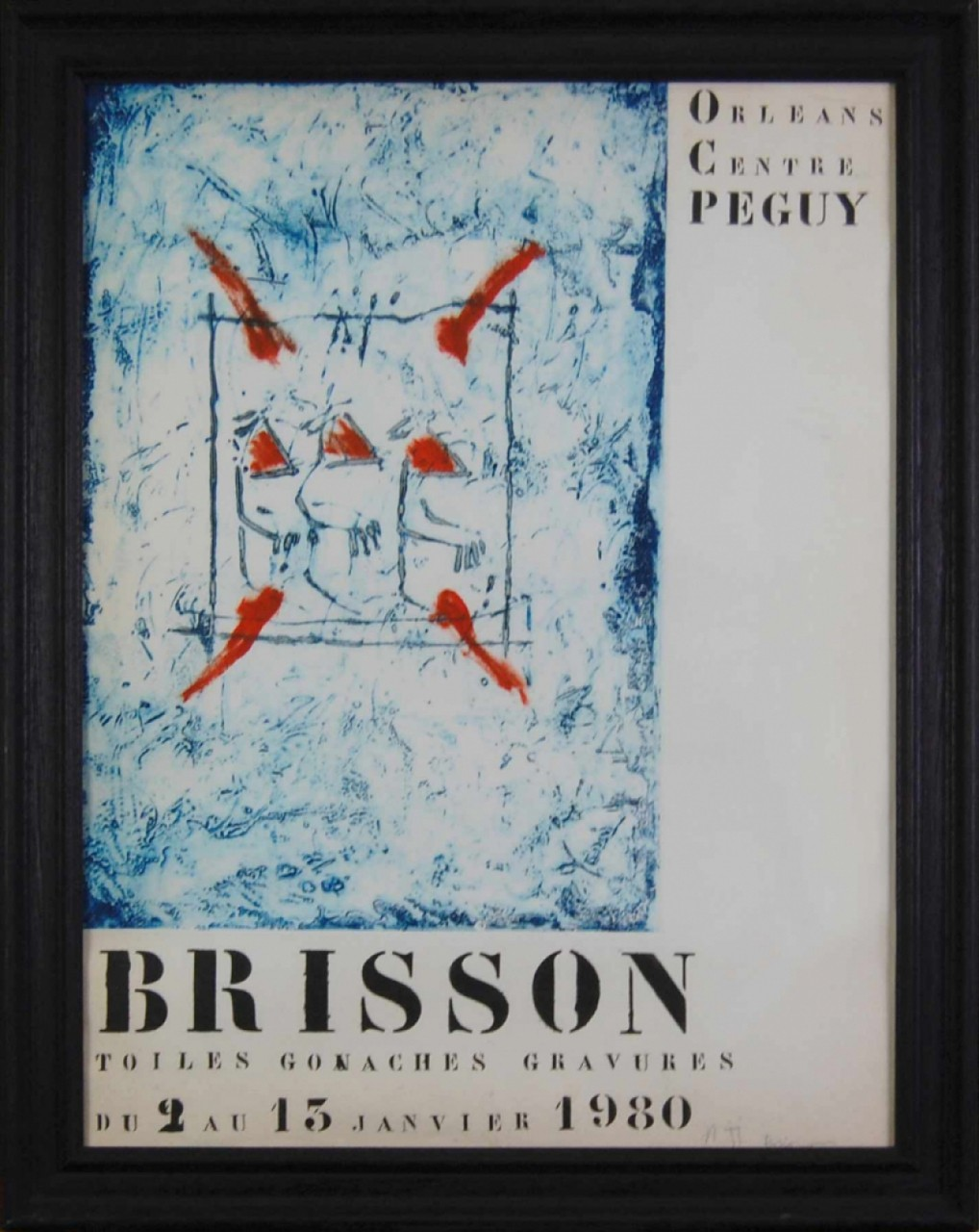 BRISSON Pierre-Marie affiche Orleans centre Peguy