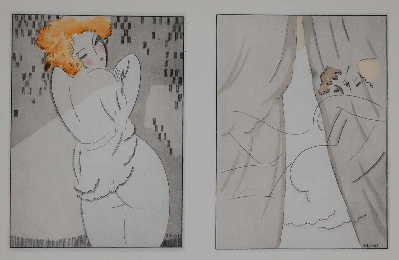 BUCHET Gustave deux poses nues