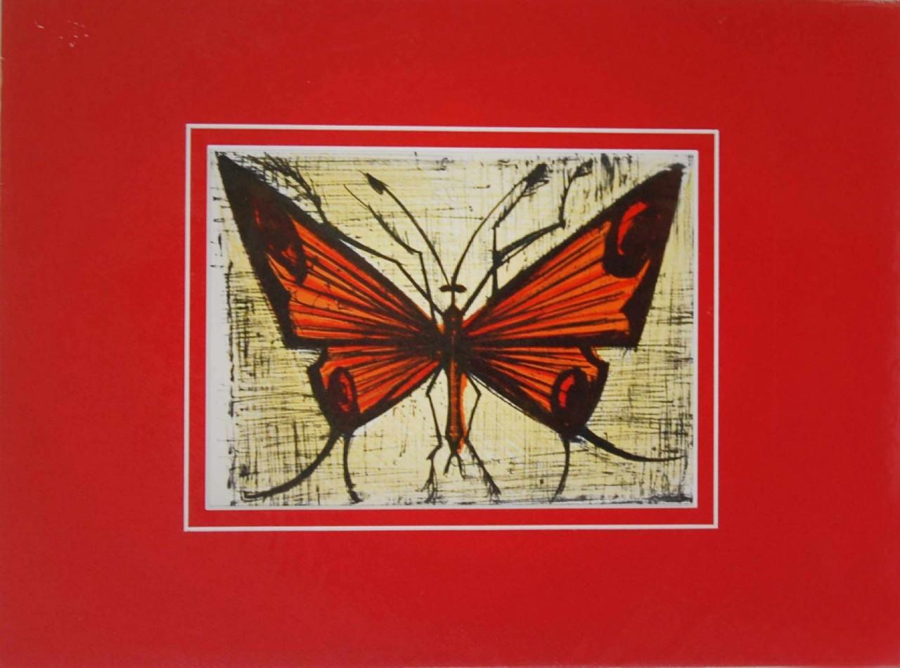 BUFFET Bernard papillon rouge