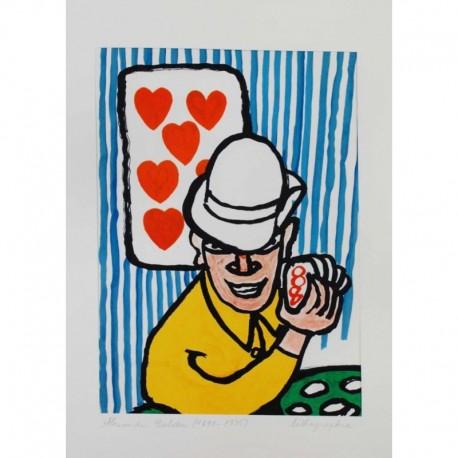 CALDER Alexander joueur de carte