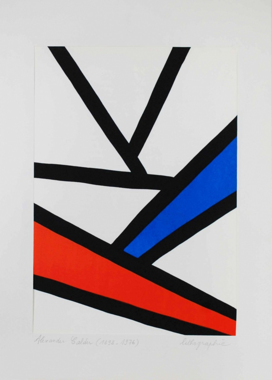 CALDER Alexander composition bleu rouge noir