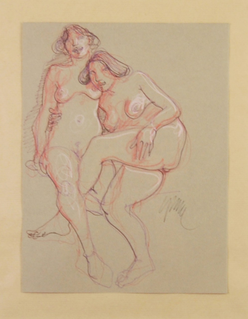CEYTAIRE Jean-Pierre femmes nues enlacées