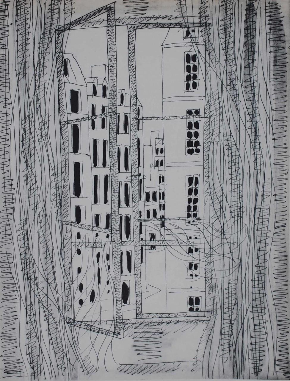 CHARBONNIER Pierre fenêtre paysage urbain