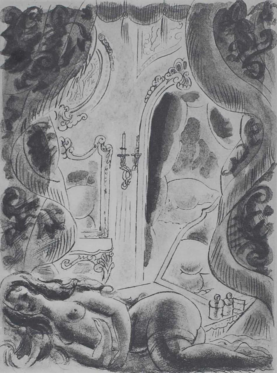 CHAS-LABORDE femme nue dans sa chambre