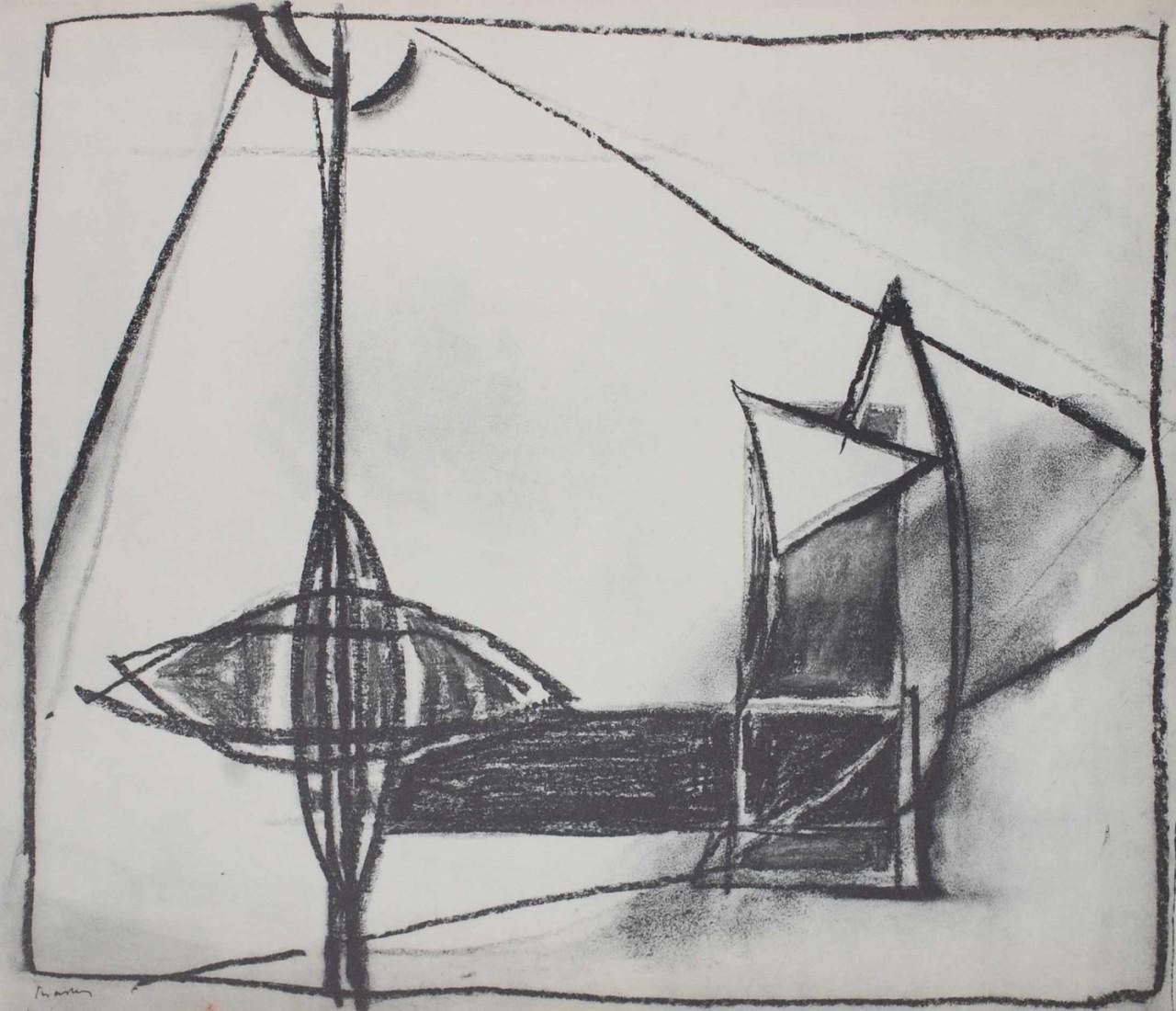 CHASTEL Roger composition noire et blanc