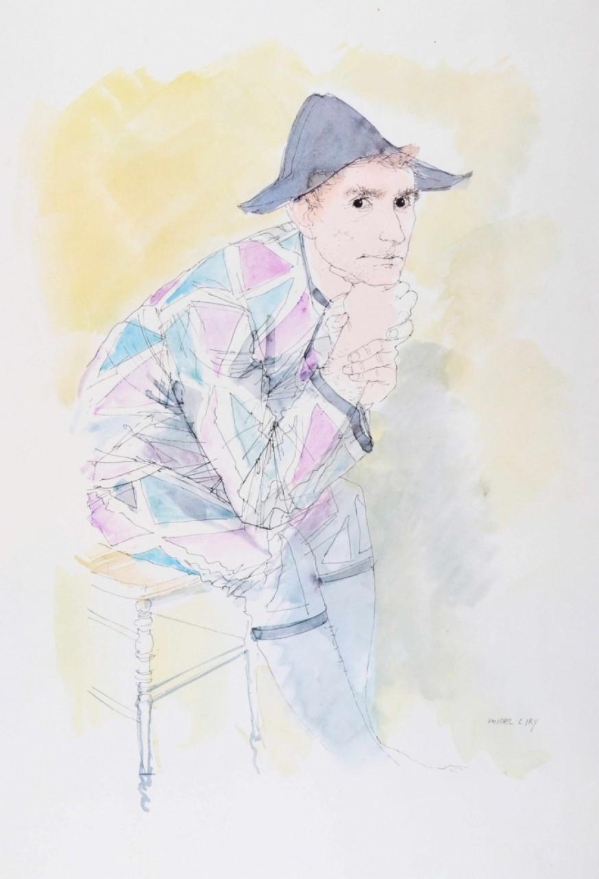 CIRY Michel arlequin assis