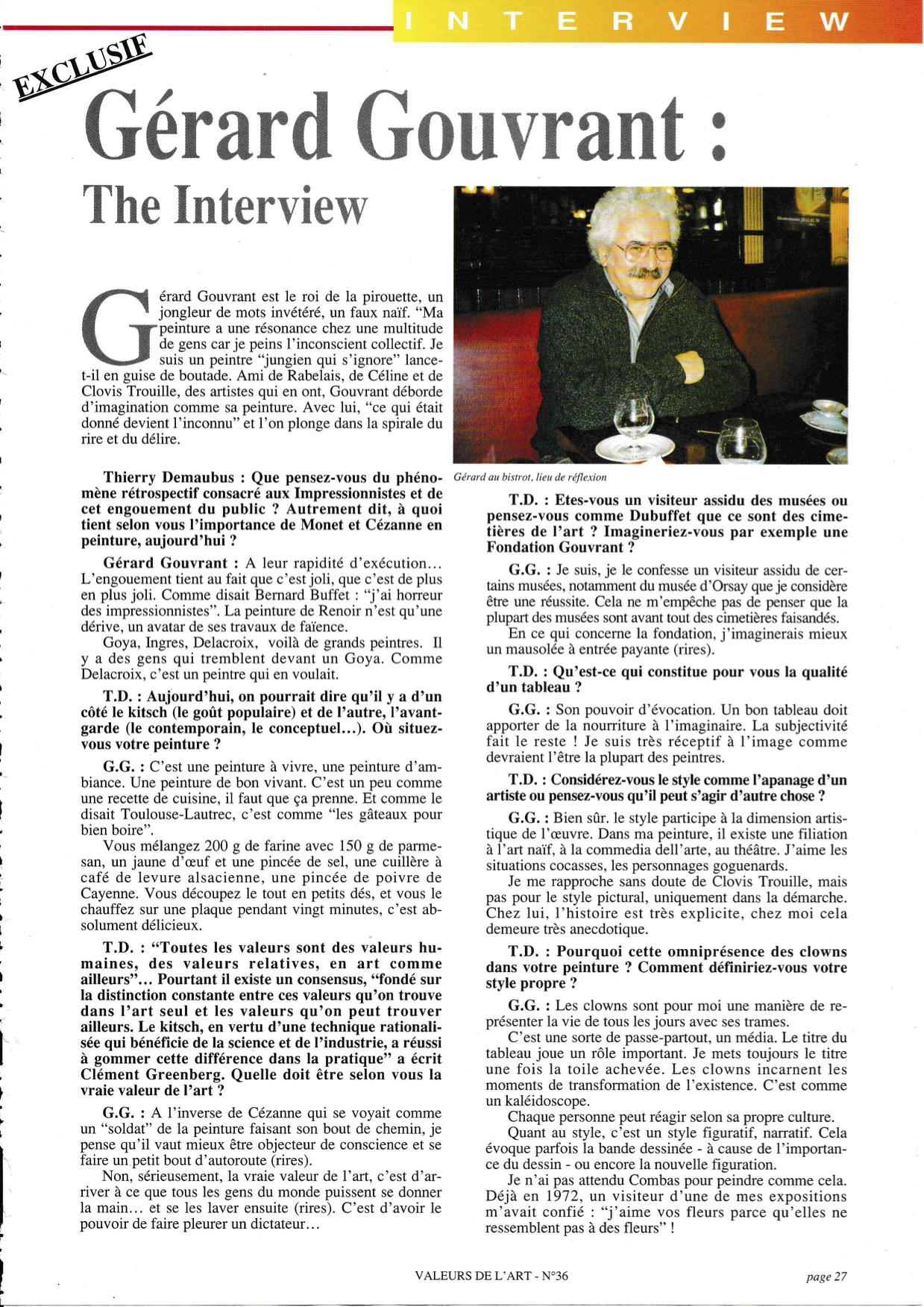 page 1 interview Gerard Gouvrant